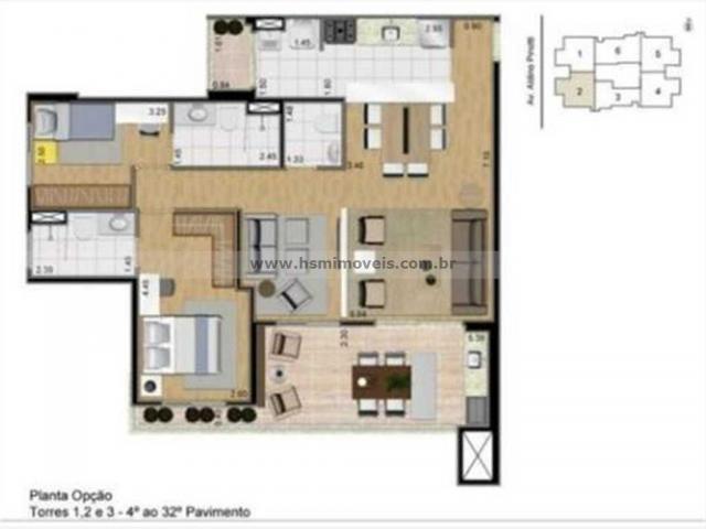 Apartamento à venda com 3 dormitórios em Centro, Sao bernardo do campo cod:15298 - Foto 17