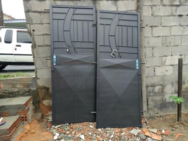 PORTA DE FERRO COM A CHAPA Entrega grátis em toda Manaus - Foto 2