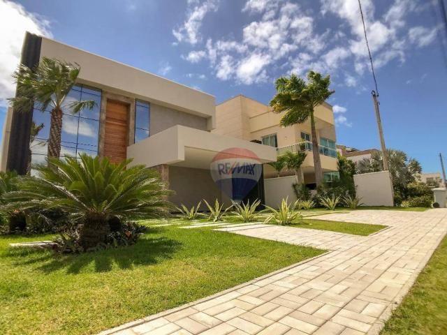 Casa com 4 dormitórios à venda, 360 m² por R$ 1.990.000 - Condomínio Alphaville Fortaleza  - Foto 3