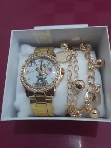 Relógio feminino com pulseira - Bijouterias, relógios e acessórios ... 816deac1fb