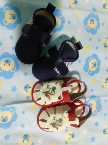 Kit 2 sapatinhos bebê menino - Foto 4