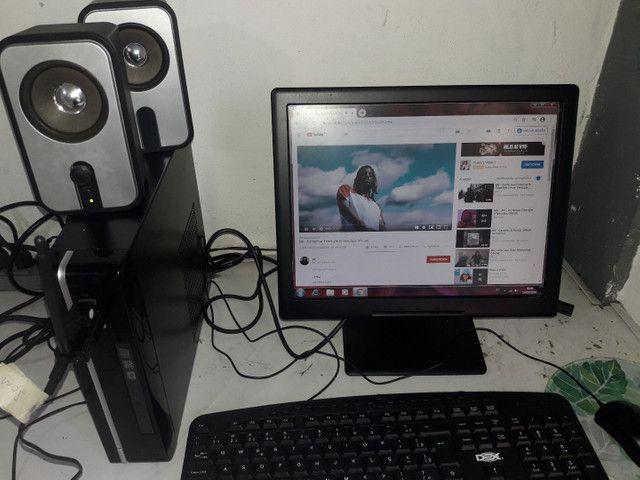 Vendo computador completo Wi-Fi, som home office - Foto 3