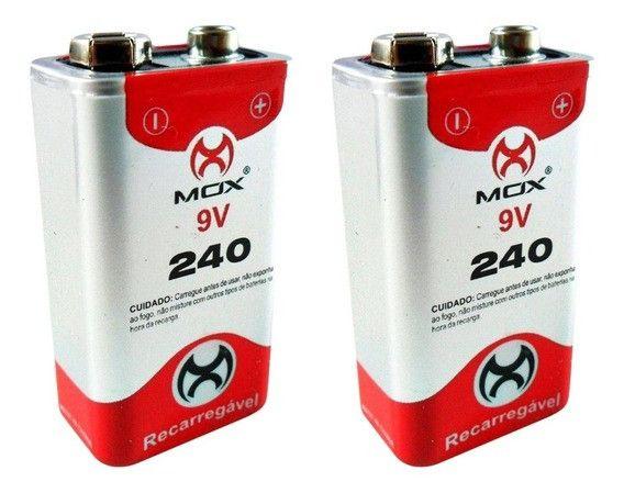 Bateria 9v 240a mox + carregador - Foto 3
