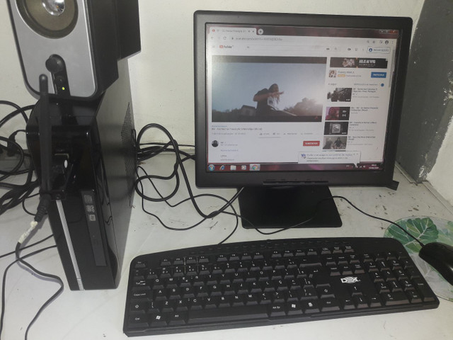 Vendo computador completo Wi-Fi, som home office - Foto 2