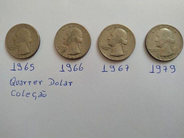Moedas quarter dolar antigas