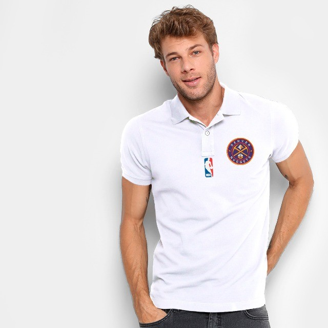 Camisa Polo Do Denver Nuggets - Nba - 100% Bordada - Foto 3
