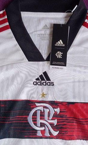 Camisa Do Flamengo branca (disponível: GG) - Foto 2