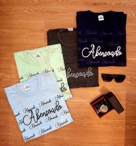 """Camisetas Evangélicas """"ABENÇOADO"""" - Foto 6"""