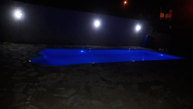 piscina de fibra leds de brinde fibra