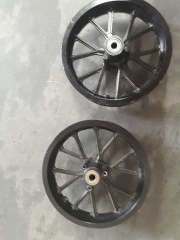 """Jogo de rodas + rolamentos aro 8"""", mini moto cross - novos - Foto 2"""