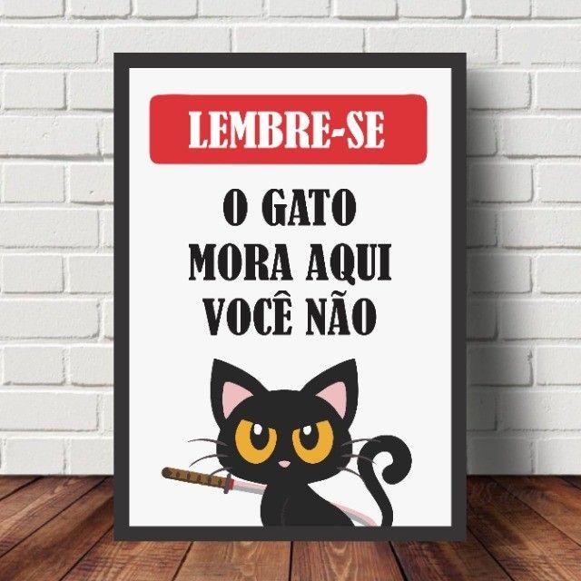 ***Leia*** Quadros Decorativos Personalizados Frases Pets - Foto 4