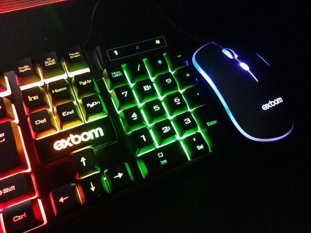 Teclado e  mouse Gamer com led - Foto 2