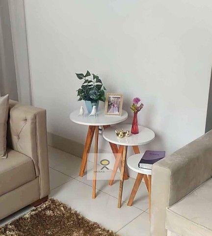mesas mesinhas kit com 3 tres mesas para decorar sua casa/loja e presentear sua mae - Foto 5