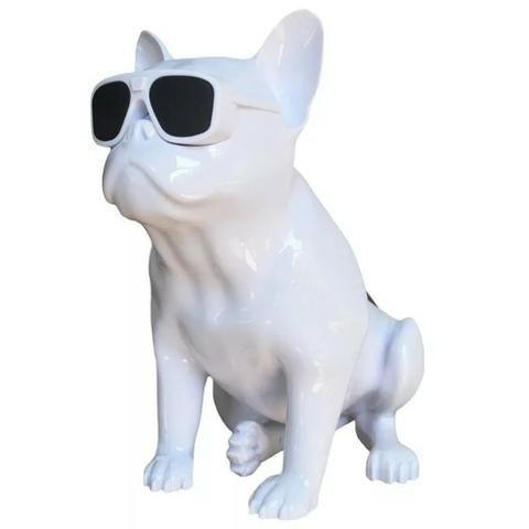 Caixa De Som Amplificada Modelo Cachorro Bulldog Bluetooth - Foto 4