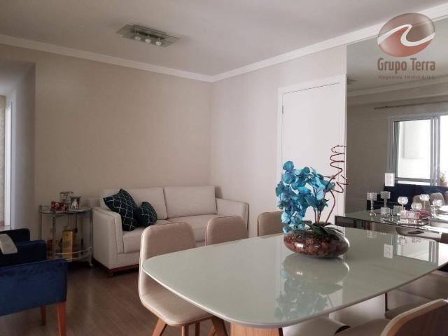 Apartamento com 3 dormitórios à venda, 90 m² por r$ 530.000,00 - jardim aquarius - são jos
