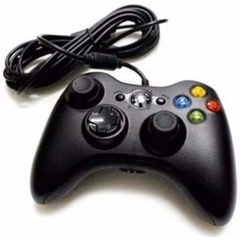 Controle Com Fio Xbox 360 E Pc Slim Joystick Notebook Usb - Foto 2