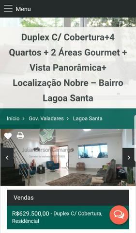 Duplex C/ Cobertura+4 Quartos+2 Áreas Gourmet+Vista Panorâmica-B. Lagoa Santa - Foto 13