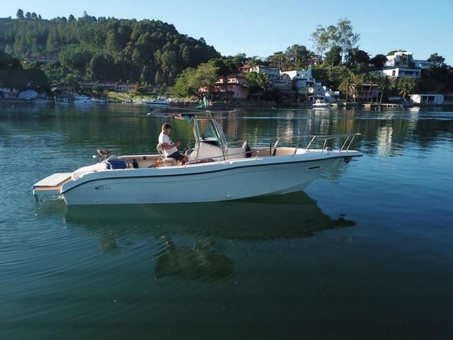 Lancha Fishing 265 - Mercruiser 5.0 V8 gasolina - Impecável - Foto 2