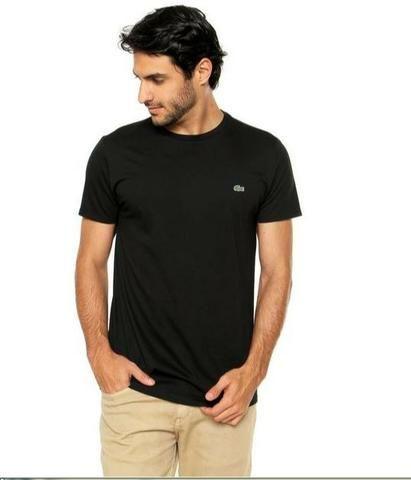 Camiseta Lacoste Preta Básica + Caixa da Lacoste - Roupas e calçados ... af03f20739