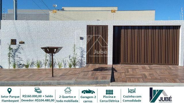 Casa de 02 quartos toda mobiliada com piscina no Setor Parque Flamboyant - Foto 7