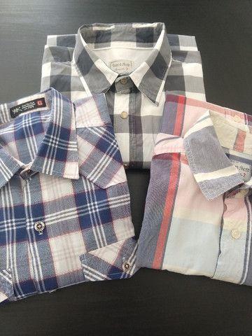 Camisas Xadrez Tam G - Kit com 3 - Ótimo Estado