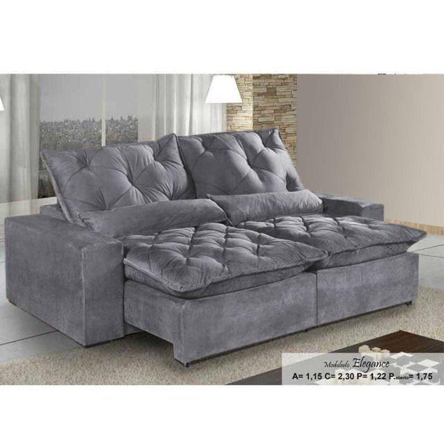 Sofá Retrátil e Reclinável Elegance Confort 2mt - Foto 4