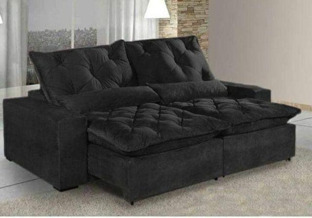 Sofá Retrátil e Reclinável Elegance Confort 2mt - Foto 5