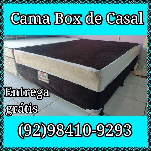 Oferta de Cama Box Casal de Espuma Semi Ortopédica