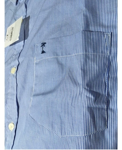 Camisa manga longa azul AD Life Style nova, 100% algodão - Foto 3