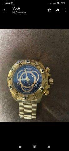 Relógio invicta original banhado a ouro - Foto 2