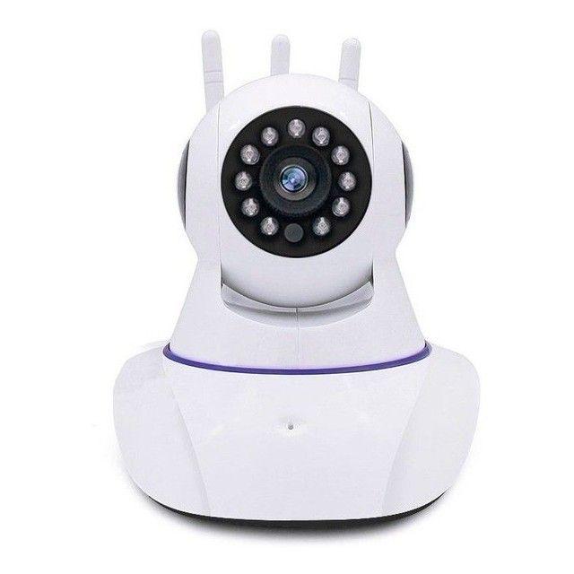 Câmera IP wi-fi completa 3 antenas grande promoção - Foto 2