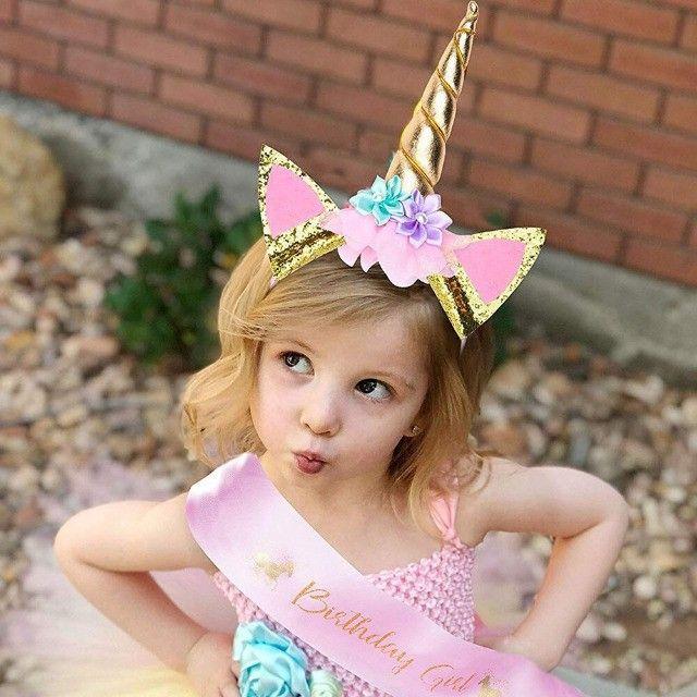 Tiara e Asinha Festa Aniversario Unicórnio Menina Infantil