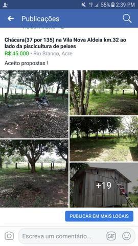 Chácara(37 por 135) na Vila Nova Aldeia km 32
