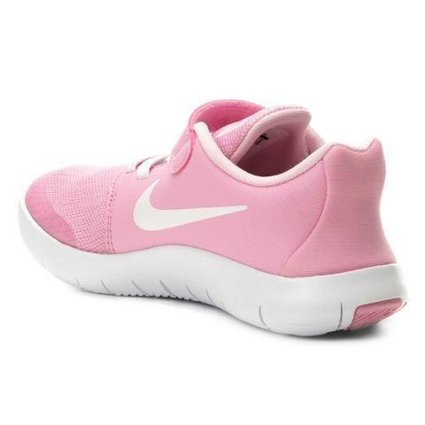 6369693ea6fafd Tênis Infantil Nike Flex Contact 2 Feminino - Rosa e Branco ...