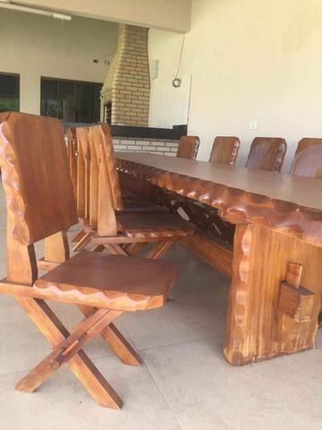Mesa de madeira maciça - Troco-