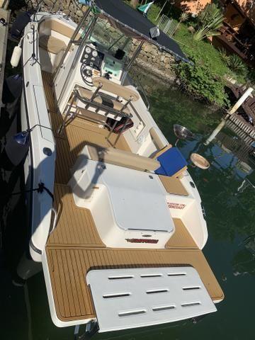 Lancha Fishing 265 - Mercruiser 5.0 V8 gasolina - Impecável - Foto 14
