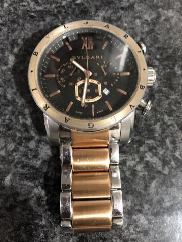 3cbd7912d16 Relógio BVLGARI Tourbillon SD Iron Man Ouro Rosê - Bijouterias ...