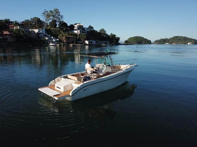 Lancha Fishing 265 - Mercruiser 5.0 V8 gasolina - Impecável - Foto 9