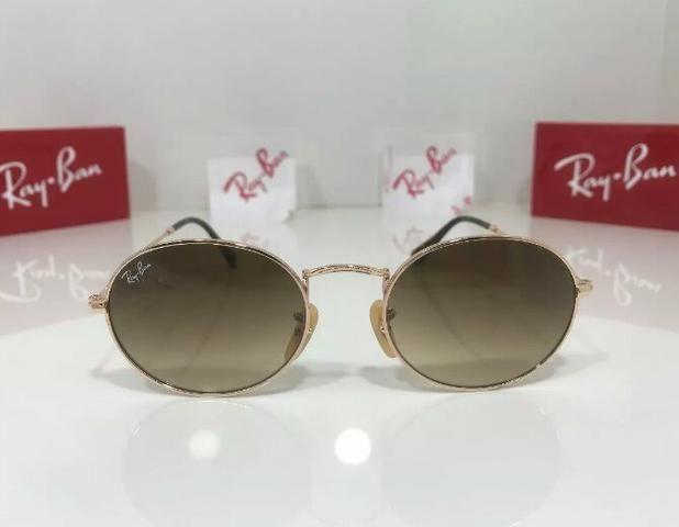Óculos de sol RaY Ban Round Metal Marron Degradê Unissex novo ... 143ff20367d6