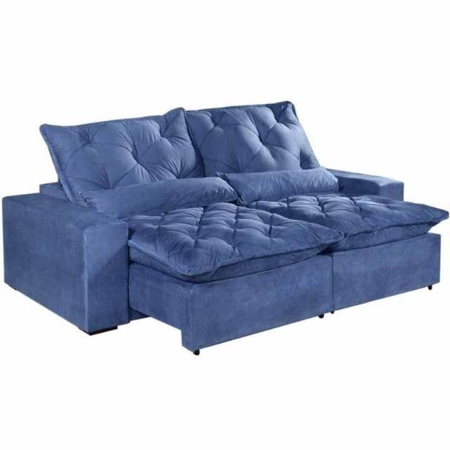 Sofá Retrátil e Reclinável Elegance Confort 2mt - Foto 3