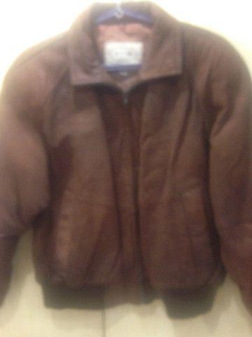 Jaqueta de camurça marrom