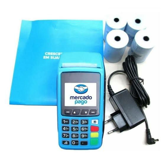 Máquina de cartão com bobina Mercado Pago Point Pro - Imprimi comprovante