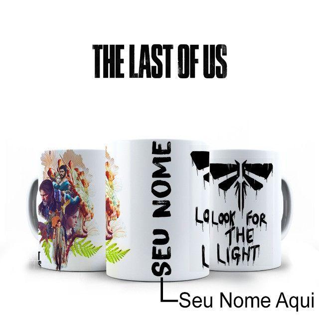 The Last Of Us Caneca Personalizada Com Nome Fazemos Alterações na Arte