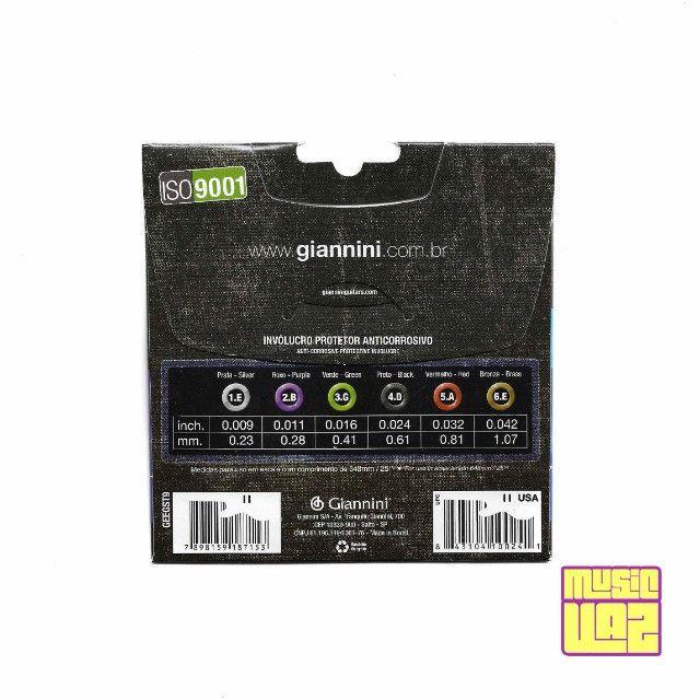 Encordoamento Para Guitarra Giannini .009 geegst9 - Foto 2