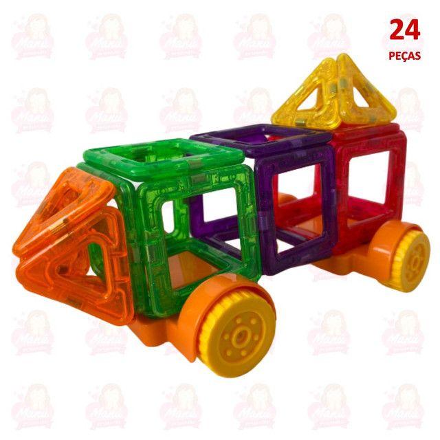 Blocos magnéticos 24 peças para diversão