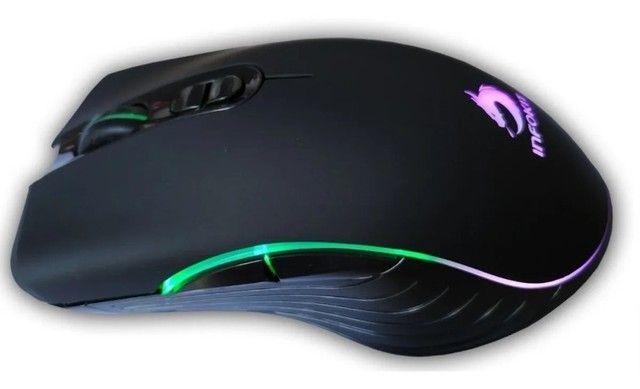 Mouse gamer usb com led rgb infokit gm-v550 x soldado - Foto 2