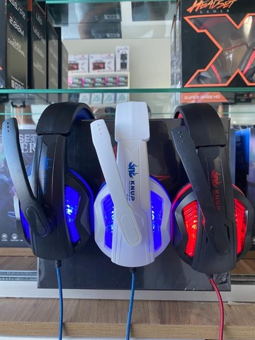 Headset Gamer Fone Led Knup Ps4 Xbox One Smartphone Kp-396-(Lojas Wiki) - Foto 3