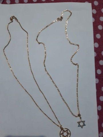 Vendo cordão c/ pingente e pulseira romanel - Foto 2