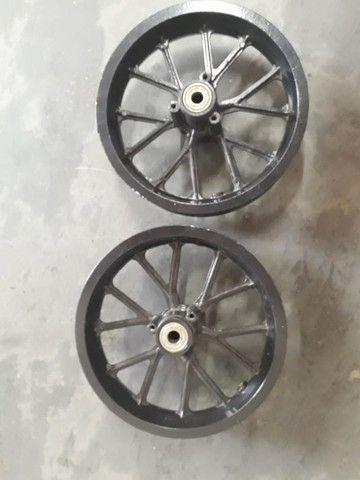 """Jogo de rodas + rolamentos aro 8"""", mini moto cross - novos"""
