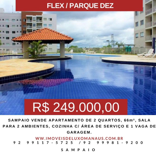 Sampaio V.E.N.D.E - Apartamento no F.L.E.X/P10 de 2 quartos [S.E.M_S.U.Í.T.E]